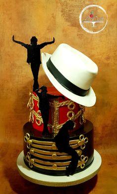 Michael Jackson cake - cake by Los dortos Michael Jackson Party, Michael Jackson Funny, Mike Jackson, Michael Jackson Smooth Criminal, Cakes For Boys, Boy Cakes, Birtday Cake, Dad Cake, Music Cakes