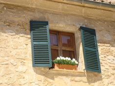 Detail of a window in a small town in Mallorca.