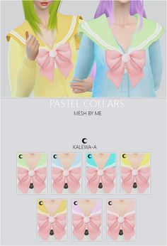 Kalewa-a: Pastel Collars • Sims 4 Downloads