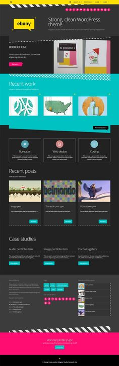 73 best Creative One-Page Websites images on Pinterest | Template ...