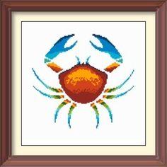 Crab Counted Cross Stitch Pattern PDF Chart by ArtbyMariana