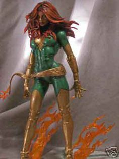 Jean Grey Phoenix Custom Marvel Legends X-MEN Figure by carloss7930 | Action Figure Customs