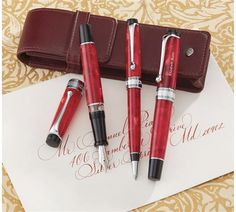 Aurora Optima Rossa Fountain Pen