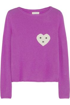 Chinti and Parker Heart-intarsia cashmere sweater NET-A-PORTER.COM