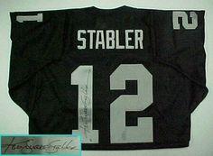 2108f2f2f57 Ken Stabler Hand Signed Raiders Throwback Jersey w  Inscription .  356.25. Ken  Stabler Hand Signed Raiders Throwback Jersey with
