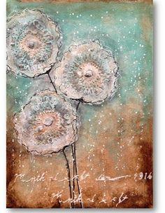 Dandelions | Mixed Media Painting – Nika in Wonderland Mixed Media Tutorials