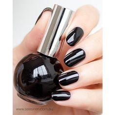 """MIDNIGHT MOVES"" Nail Polish ❤ liked on Polyvore featuring beauty products, nail care, nail polish and shiny nail polish"