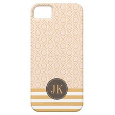 XOXO Monogram Blush Pink and Gold iPhone 5/5S Case