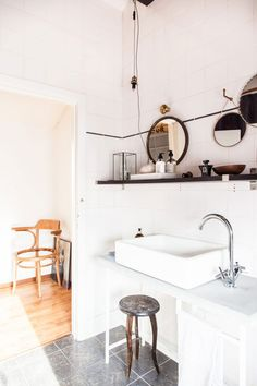 Belgium country home bathroom styled for vtwonen by Avenue Design Studio. / sfgirlbybay