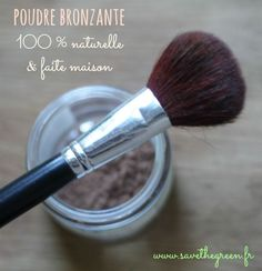 DIY: The natural and homemade powder bronzer! Beauty And The Best, Beauty Make Up, Beauty Care, Beauty Hacks, Homemade Primer, Diy Beauté, Mini Spa, Green Makeup, Homemade Cosmetics