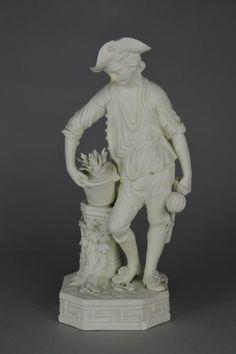 Figure; biscuit porcelain; typifying Earth; figure of gardener.