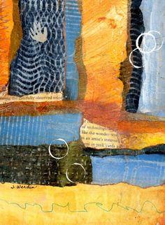 """Lend Me A Hand, Mixed Media collage, 5.5 X 7.5 I added """"joyfulartistblog"""" to an #inlinkz linkup!http://joyfulartistblog.blogspot.com"""