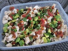 Teacher lunch idea-- Baja Chicken Salad, also great for a group luncheon, potluck, football tailgate party...
