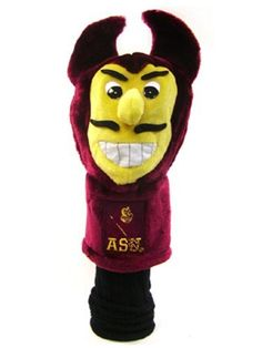 NCAA Arizona State University Team Mascot Head Cover by Team Golf. $19.99. Proudly show off your school spirit when you use this officially licensed NCAA® team mascot headcover from Team Golf. The cover features a plush team mascot and fits most oversized drivers.