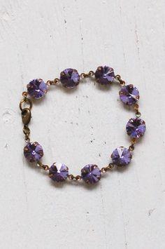Amethyst RHINESTONE Bracelet