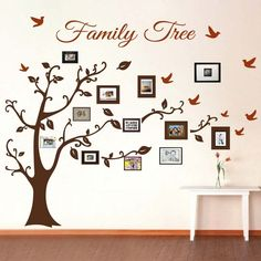 Family Tree Picture Frame Wall Art With Detailed Branches For The Vintage Touch And Design , This Family Tree Collage Using Paint For Draw It