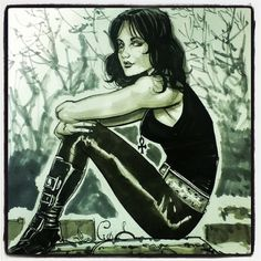 Death of the Endless from Neil Gaiman's Sandman series. Art by Ryan Kelly #ryankelly