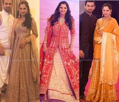 Sania Mirza Dresses for Her Sister Anam Mirza Wedding