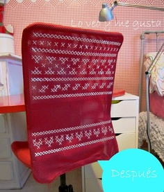 cross stich your IKEA chair --> <3