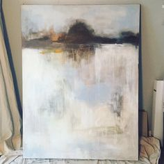 36x48 Abstract Acrylic landscape on gallery wrap canvas by Artist CORIE SWAN