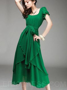 Love this green dress!