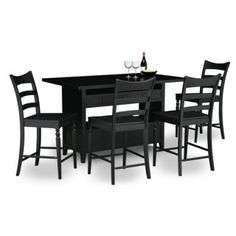 City Furniture Regal Light Tone Round Table & 4 Wood Chairs Extraordinary City Furniture Dining Room Decorating Design