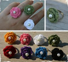 $3 Crocheted Flower Rings - 8 Color to Choose From! at VeryJane.com