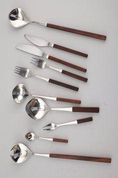 Tias Eckhoff; Steel and Palisander Cutlery, 1960s.