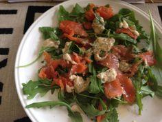 Salmon and horseradish cream salad - My Petite Kitchen. Gluten free.