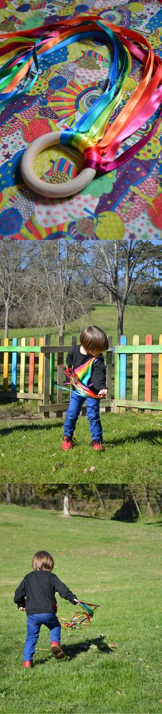 Discover thousands of images about Rainbow week day 3 : Youpi mercredi le cerf volant de main (concours inside) « Blisscocotte Sensory Activities, Infant Activities, Outdoor Activities, Activities For Kids, Montessori Room, Montessori Toddler, Baby Play, Baby Kids, Diy For Kids