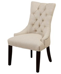The accent chair of my dreams - great for balancing out a colorful couch! #macysdreamfund