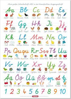 Playing Learning Publisher - Questionary - Learning Poster, The ABC with Wholesale and . Abc Poster, Posters Diy, Das Abc, Kindergarten Portfolio, Brain Gym, Uppercase And Lowercase Letters, School Readiness, German Language, Learning Colors