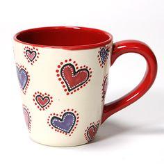 Heart Mug with Mayco Reds!