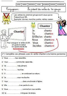 Conjugaison:verbes du premier groupe au présent CE1 CE2 Leçon et exercices   BLOG GS CP CE1 CE2 de Monsieur Mathieu NDL