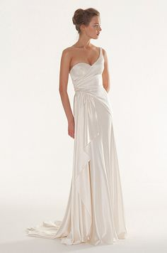 Old Hollywood style wedding dress by Peter Langner, 2013 I feel like I would love this with a sparkly belt!