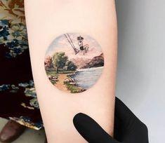 Girl on Swing tattoo by Eva Krbdk
