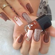 86 marvelous nail art designs 2019 page 00046 Elegant Nails, Stylish Nails, Cute Nails, Pretty Nails, Nail Art Designs, Gel Nails, Nail Polish, Nailart, Image Nails