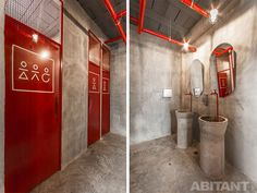 How to Budget a Bathroom Renovation Right The First Time Black Bathroom Sets, Bathroom Red, Concrete Bathroom, Gym Interior, Bathroom Interior, Interior Design, Washroom Design, Toilet Design, Gym Design