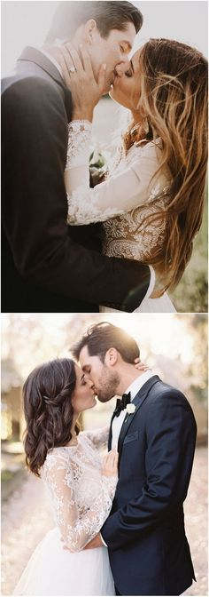 Wedding Kiss Photo Ideas  / http://www.deerpearlflowers.com/epic-wedding-kiss-photos-of-all-time/