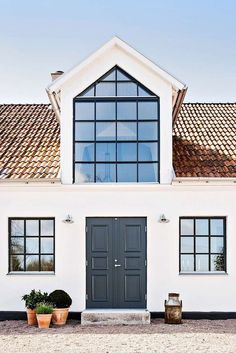 Photo 4 of 13 in An Airy, Historic Home in Sweden Is Listed For Less… Sweden Real Estate, Future House, Converted Barn Homes, Modern Farmhouse Exterior, House Roof, Scandinavian Home, House Goals, House Colors, Exterior Design