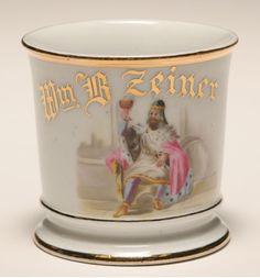 Occupational shaving mug, King Gambrinus. D&C. Good condition.