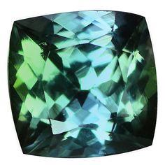 1.14 Ct IF Five-star Cushion Cut 6 x 6 mm Natural Greenish Purple Blue Tanzanite