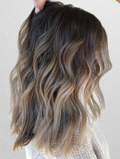 See the best fall hair colors and trends like cold brew hair, flannel hair, and . - See the best fall hair colors and trends like cold brew hair, flannel hair, and more. See examples and get inspiration for your next salon visit. Ombre Hair Color, Hair Color Balayage, Cool Hair Color, Purple Hair, Salon Hair Color, Balayage Highlights, Haircolor, New Hair Color Trends, Latest Hair Color