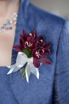 corsage chocolate orchid