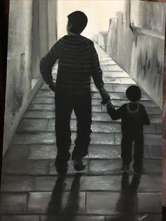 True Bond,Oil on canvas,  This is one of my favourite painting Of my husband and my son. Looking for more paintings , visit my gallery Http./Facebook.com/mystrokz