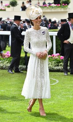All eyes were on the Duchess in this stunning Dolce & Gabbana dress at Royal Ascot.