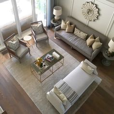 Efficient Furniture Layout The Couch Is All Way Against Wall Maximizing E