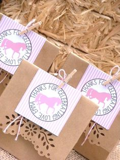 Cute favors at a Vintage Cowgirl Birthday Party!  See more party ideas at CatchMyParty.com!