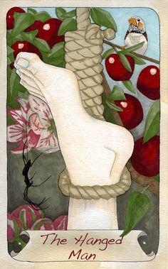 by kjmillar: Tarot Cards #2 The Hanged Man  http://kristimillar.blogspot.ca