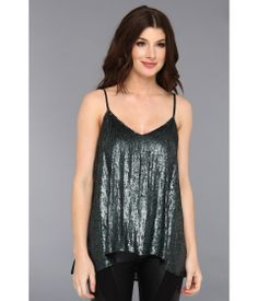 6PM  Sequin and Georgette Cami